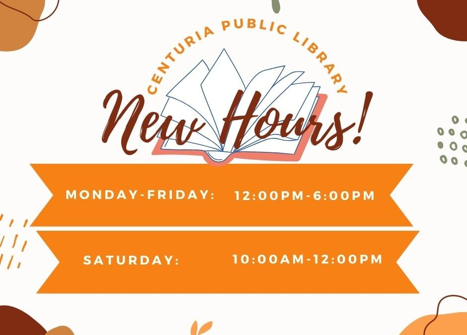 Fall Library Hours Begin!